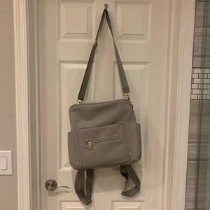 Kikilu Grey Diaper Bag - Backpack/Crossbody